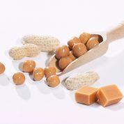 Peanut Caramel Soy Puffs