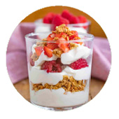 Protein Cinnamon Strawberry Parfait