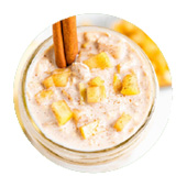 Apple Turnover Overnight Oats