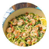 Shrimp Scampi with Fusilli